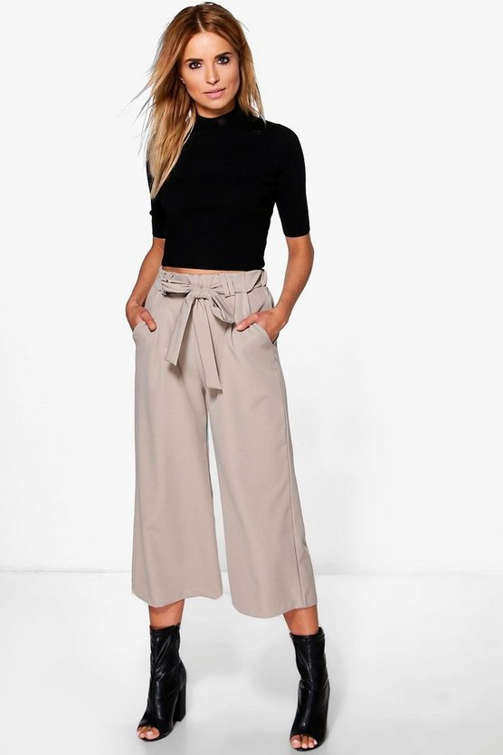 Belted Tailored Culotte
