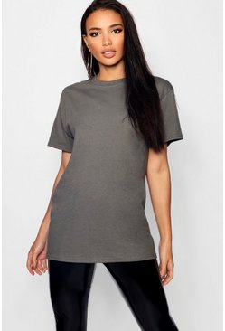 Charcoal Basic t-shirt i boyfriend-modell