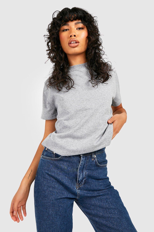 buy popular luxury aesthetic huge range of Basic Oversized Boyfriend T-shirt | Boohoo