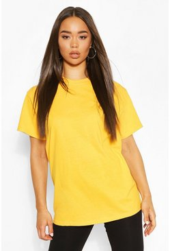 Mustard Basic Oversized Boyfriend T-shirt
