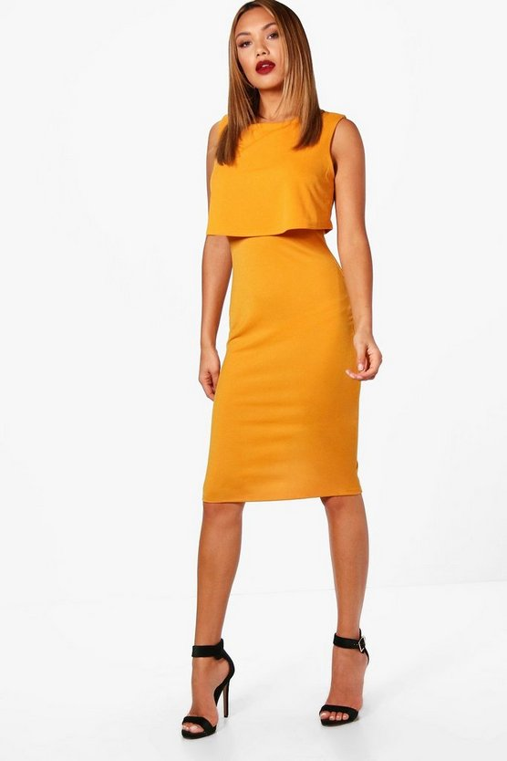 Isobelle Layered Sleeveless Midi Dress