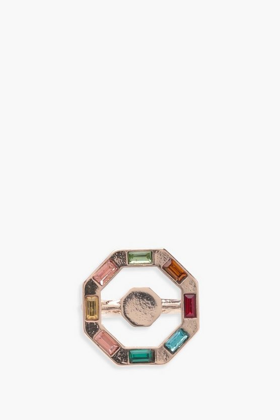 Lola Rainbow Gem Octagon Ring