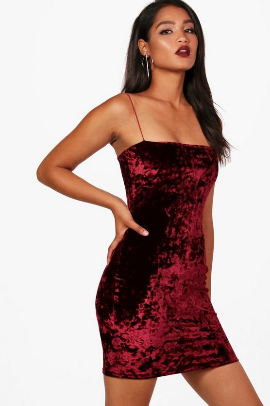 Louisa Crushed Velvet Bodycon Dress