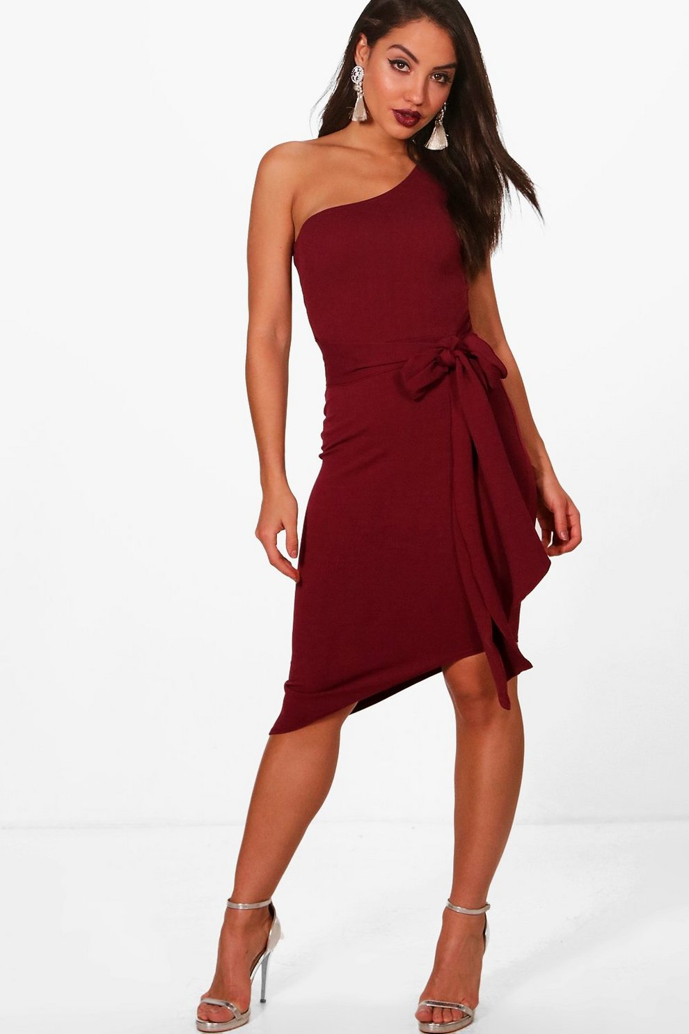 03a15691c0 One shoulder Asymmetric Bodycon Dress | Boohoo