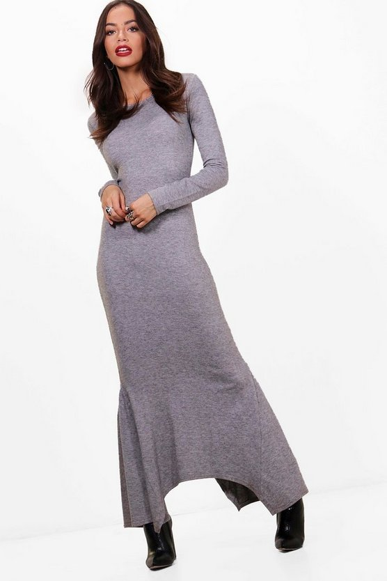 Maddison Flute Hem Midaxi Dress Knitted