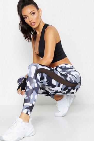 Black Fit Camo Running Leggings