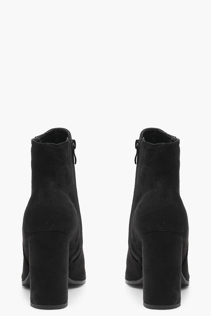 bottines evasées noires