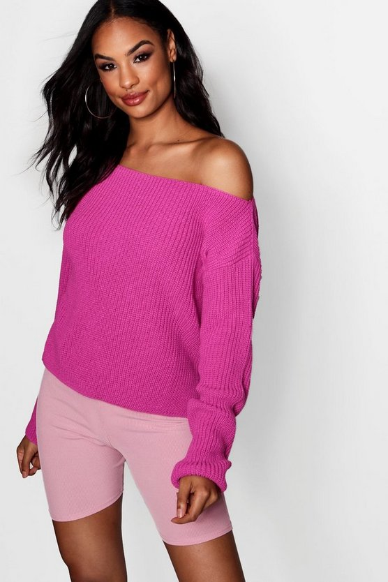 Off The Shoulder Slouchy Jumper
