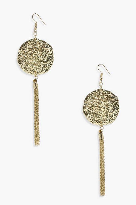grace-coin-metal-tassel-earrings by boohoo