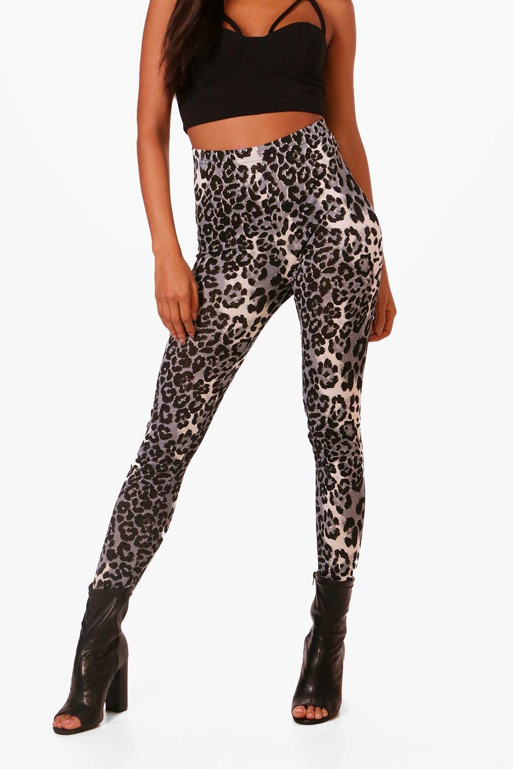 grey grey Leggings Leopard Leggings Leggings Print Print Leopard Leopard Print 7SHqFq