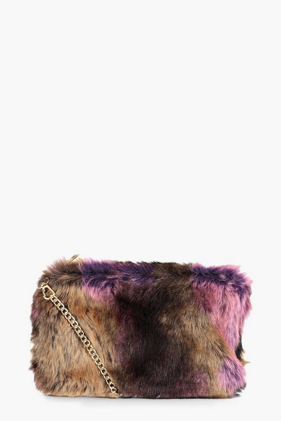 Fliss Multi Faux Fur Cross Body Bag