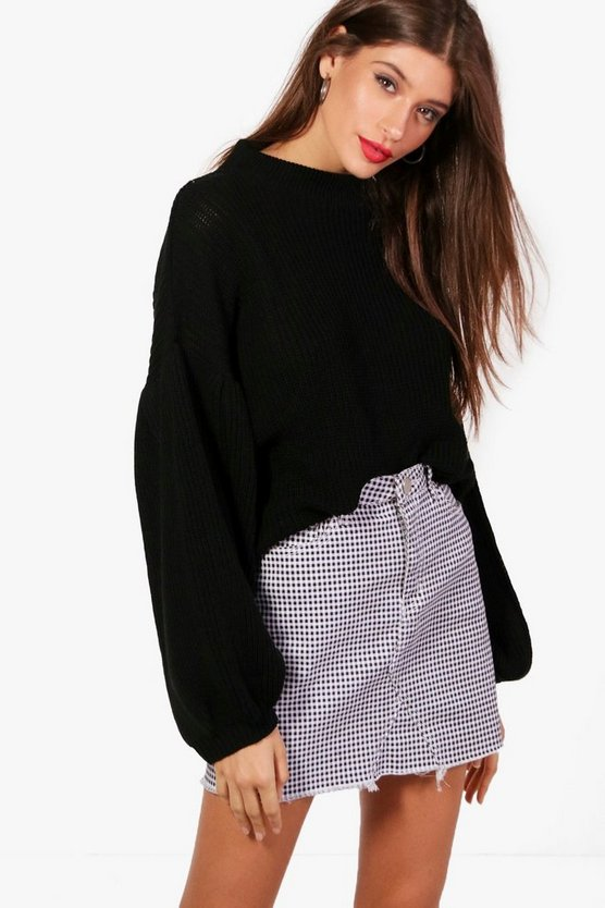 Balloon Sleeve Oversized Jumper