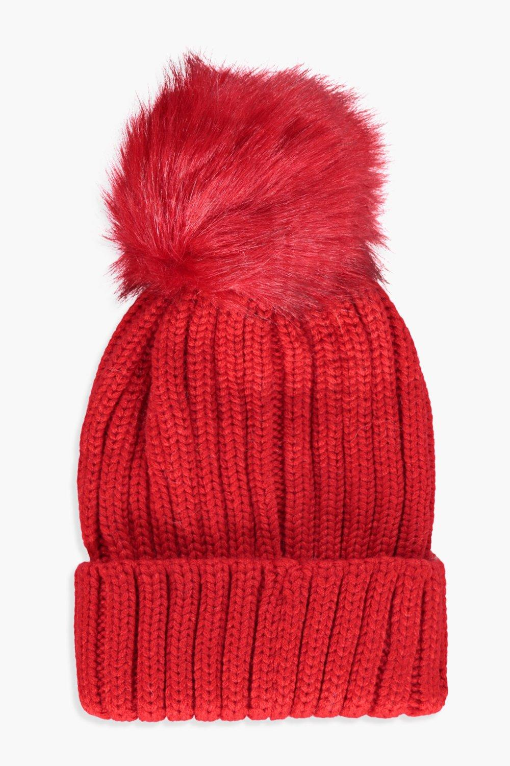 15e67b6947d Katy Bright Tipped Faux Fur Pom Beanie