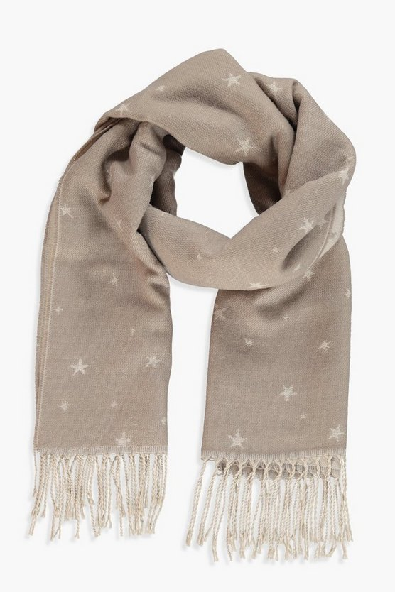 Sophie Woven Star Print Scarf