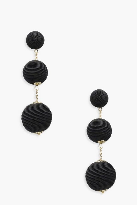 Chelsea Ribbed Ball Earrings