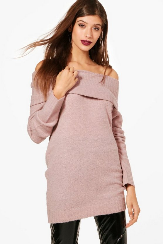 Soft Knit Bardot Tunic
