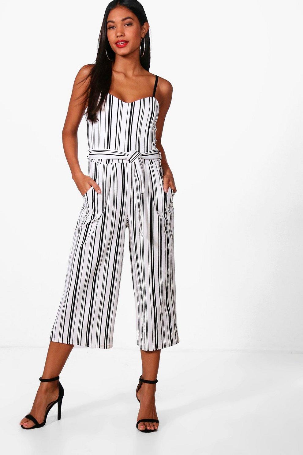 afdec0f8d13 Striped Culotte Jumpsuit