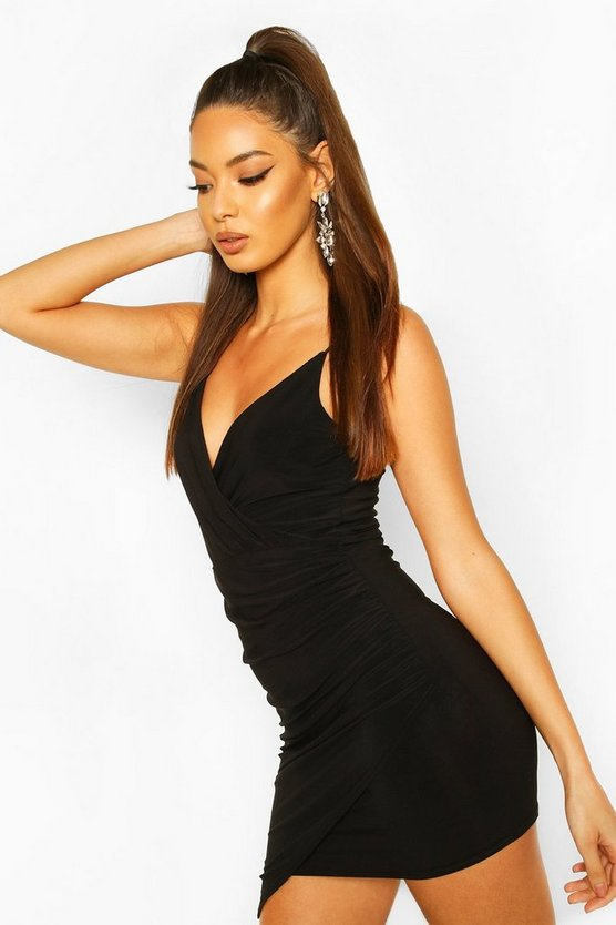 Wrap Detail Bodycon Dress
