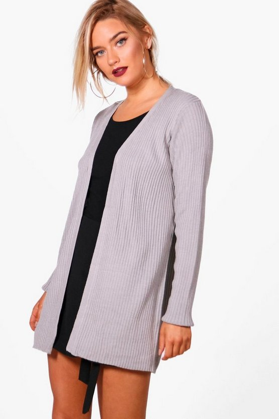 Eloise Ribbed Edge To Edge Cardigan