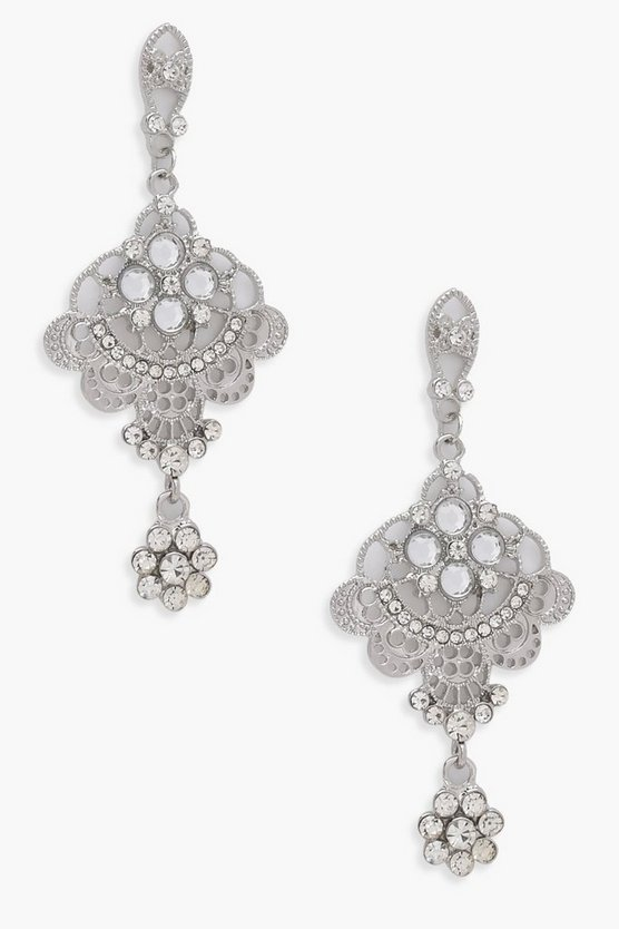 Abby Statement Diamante Chandelier Earrings