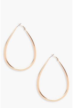 Camilla Tear Drop Hoop Earrings, Gold, FEMMES