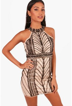Womens Blush Boutique  Embellished Bodycon Dress