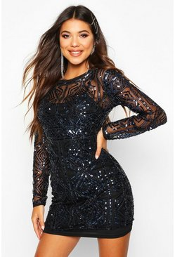 Cobalt Boutique  Embellished Bodycon Dress