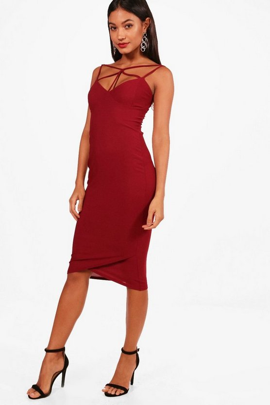 Strappy Detail Midi Boydcon Dress