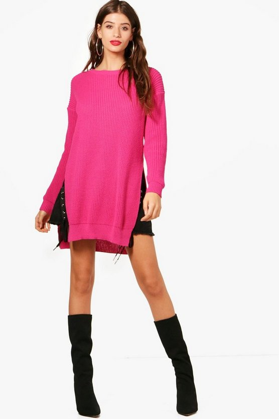 Mila Side Split Longline Jumper