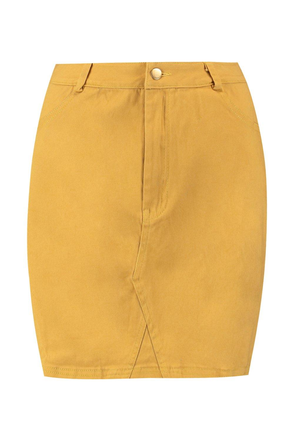 Mini Micro Denim Skirt mustard Coloured 6zdqTwn6x