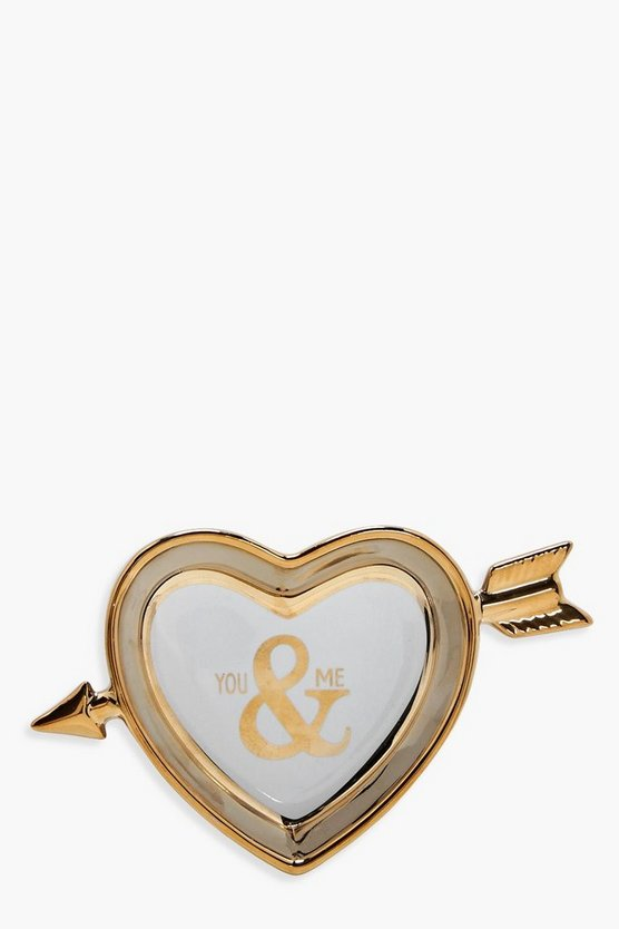 You & Me Gold Jewellery Dish