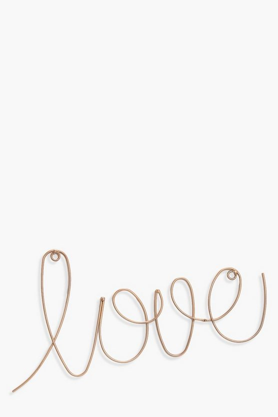 Womens Gold Metal Love Wall Art