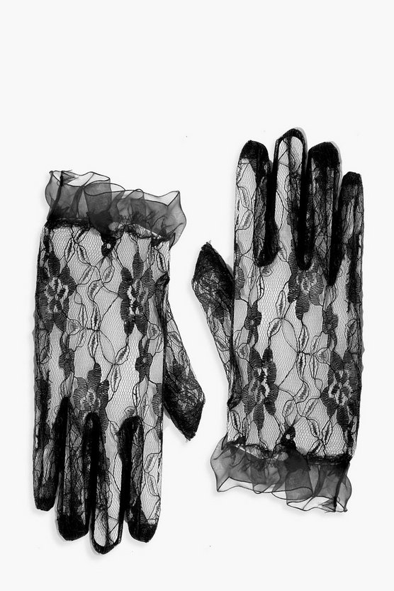 Halloween Lace Gloves
