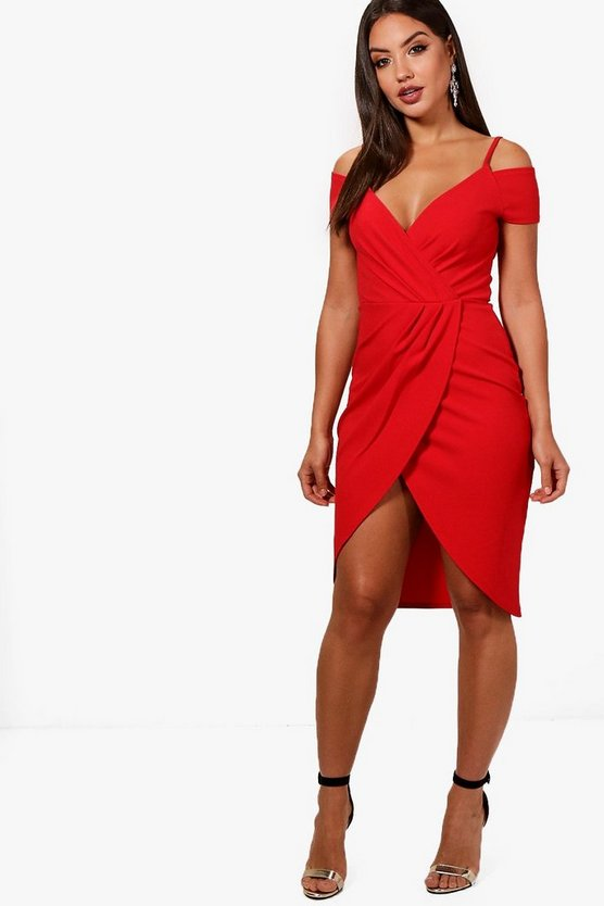 Cold Shoulder Midi Dress