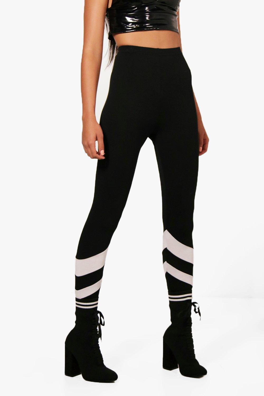Boohoo-Alessia-Chevron-Stripe-Leggings-per-Donna