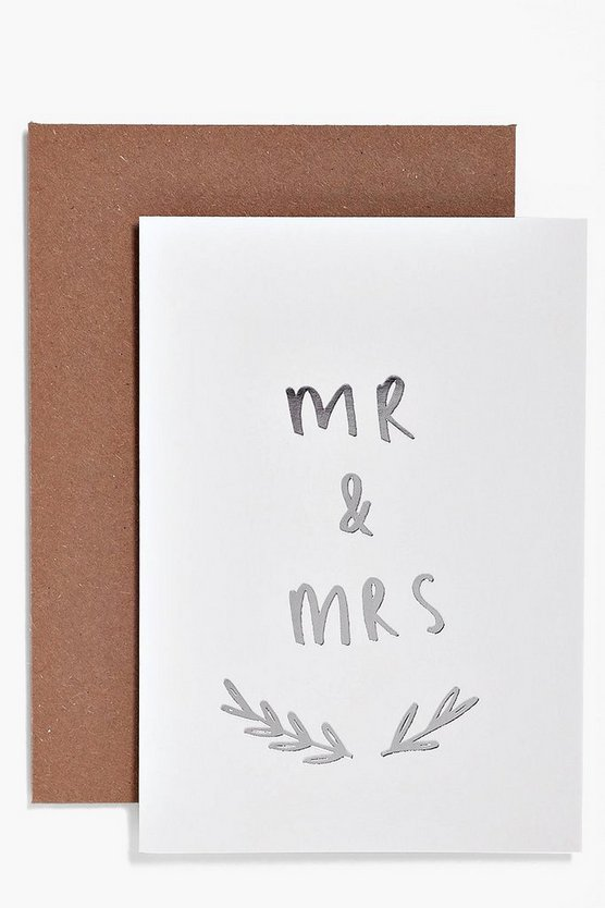 Carte Mr & Mrs