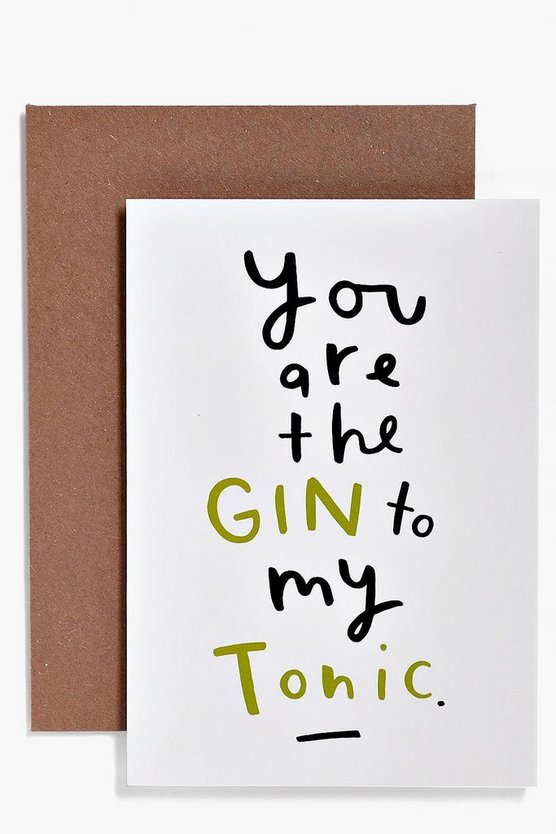 Gin And Tonic Card
