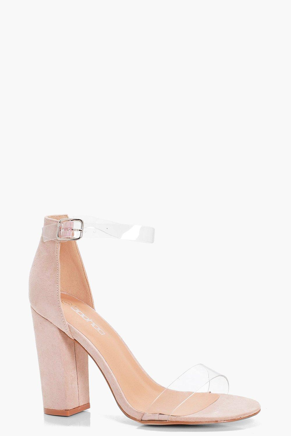 Wide Fit Clear Band Block Heels | boohoo Australia