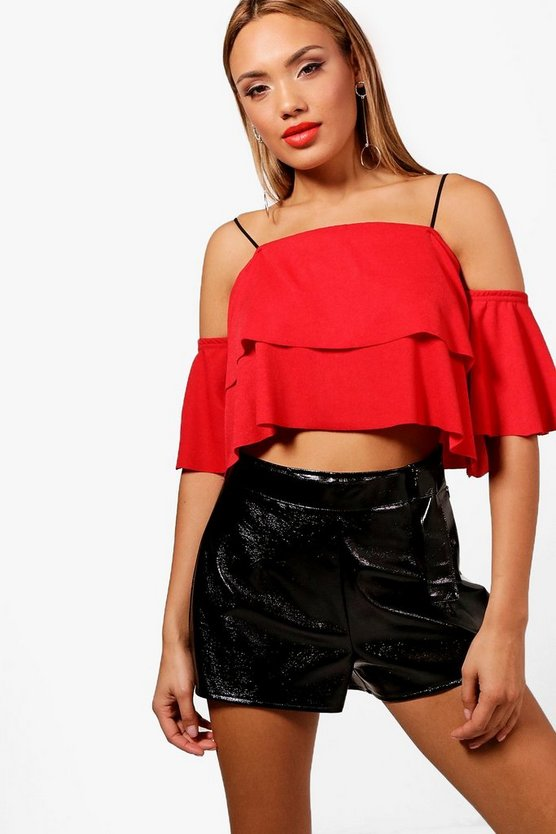 Amelia Double Frill Off The Shoulder Top
