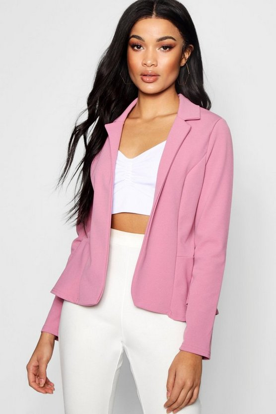 Peplum Edge To Edge Blazer