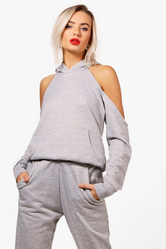 Layla Athleisure Cold Shoulder Hoodie