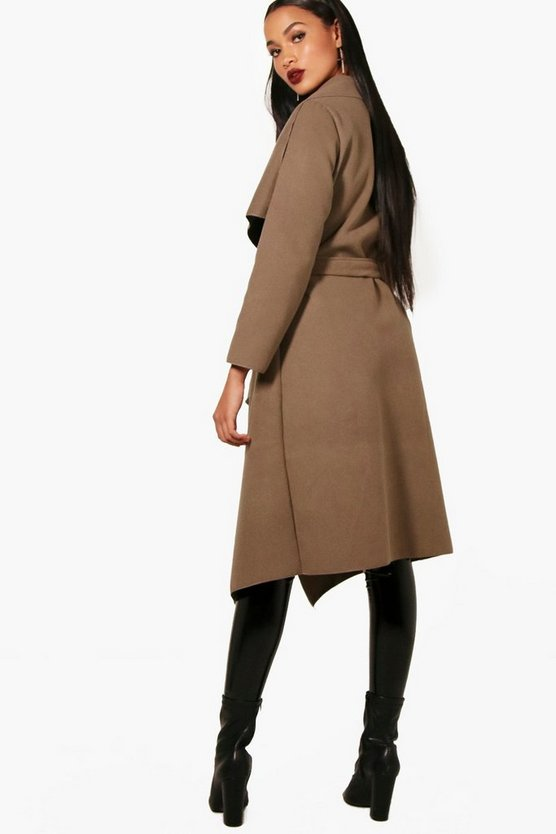Belted Waterfall Coat