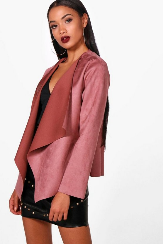Jasmine Suedette Waterfall Duster