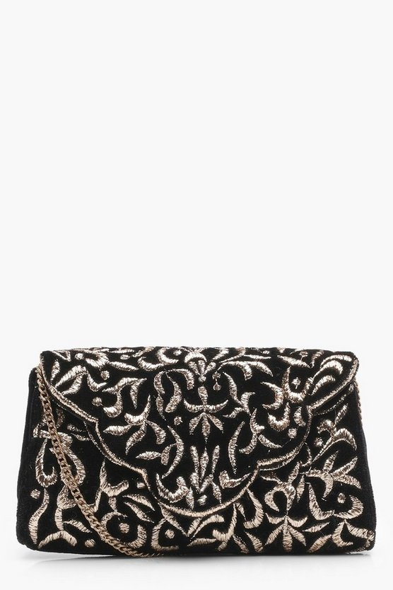 Freya Metallic Embroidered Cross Body