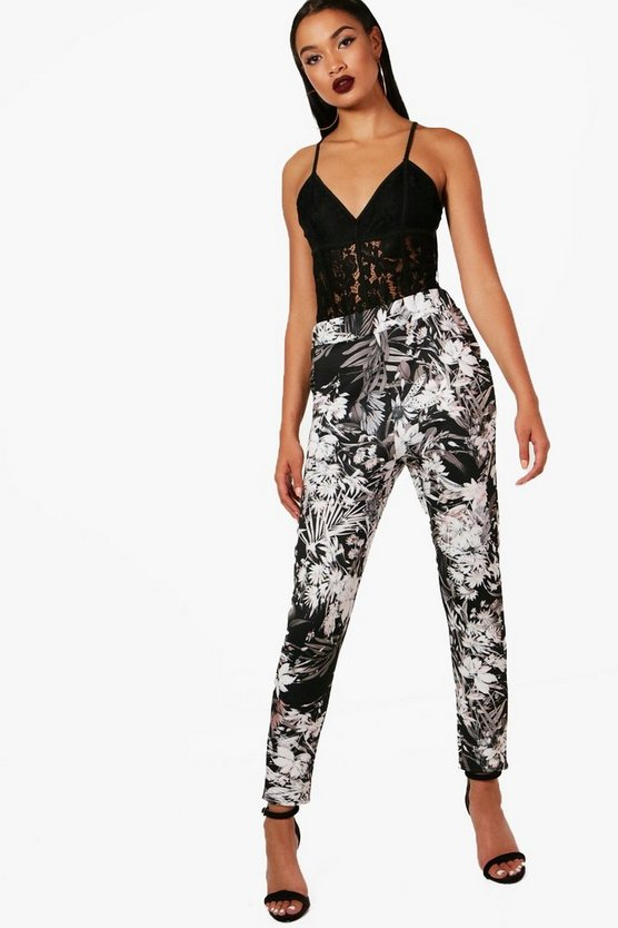 Giana Floral Skinny Stretch Trousers