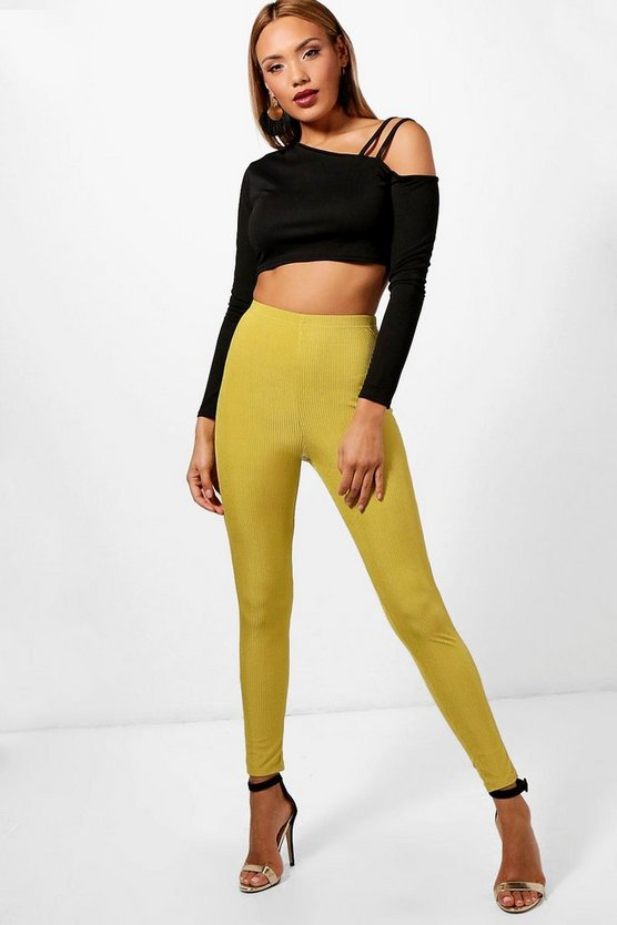 Kelly Slinky Rib High Waist Legging
