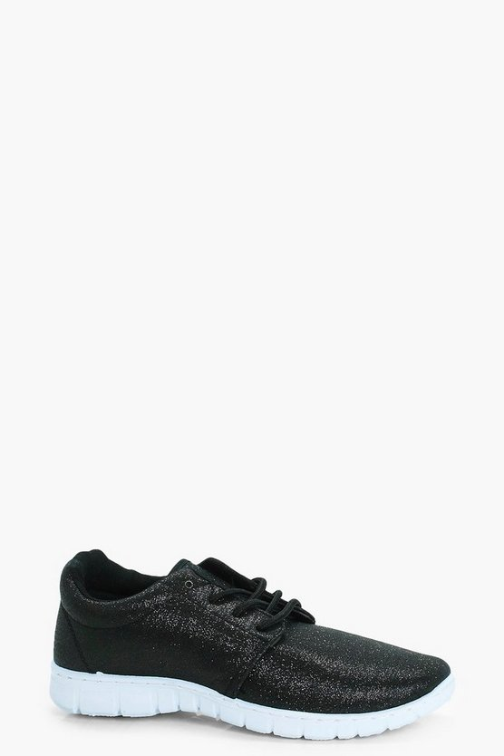 Lexi Metallic Lace Up Sports Trainers