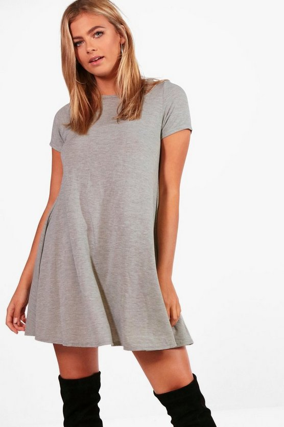Camilla Fine Knit Short Sleeve Swing Dress