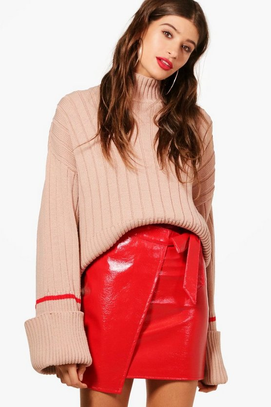 Amy Contrast Tipping Maxi Sleeve Jumper