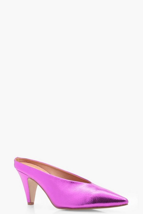 Pointed High Vamp Cone Heels